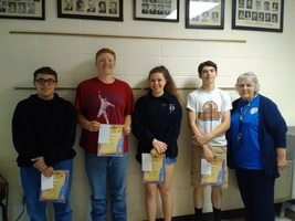 Freshman Students Excel in Essay Contest